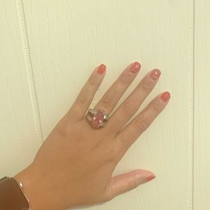 Pink Silver Ring Size 7